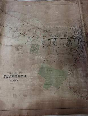 19TH CENTURY PAPER CANVAS BACKED MAP OF