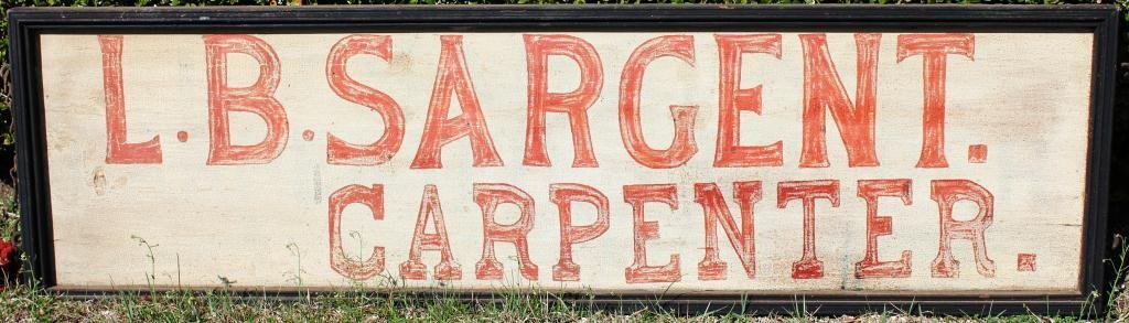 3: HAND PAINTED SIGN FOR L. B. SARGENT,