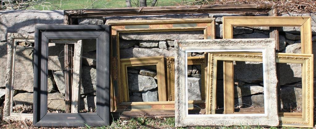 5: COLLECTION OF 9 MISCELLANEOUS OLD FRAMES