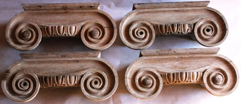 6: 2 PAIRS OF IONIC CAPITALS, EARLY 19TH