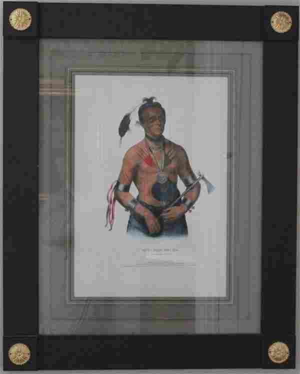 FRAMED AND GLAZED HAND COLORED