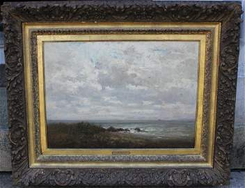 266: FRAMED OIL PAINTING ON PANEL BY R.