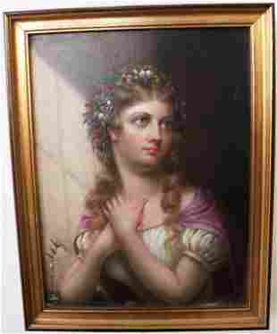 """FRAMED OIL PAINTING ON CANVAS TITLED """"THE ACTRESS"""""""