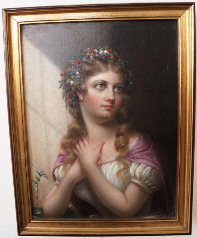 """2: FRAMED OIL PAINTING ON CANVAS TITLED """"THE ACTRESS"""""""