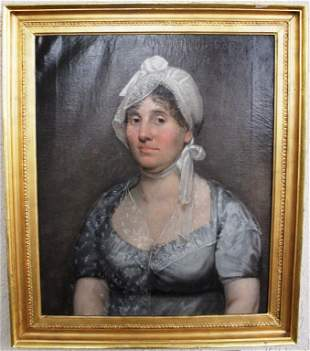OIL PAINTING OF MRS. MARY SCOTT, BORN 1765, OF
