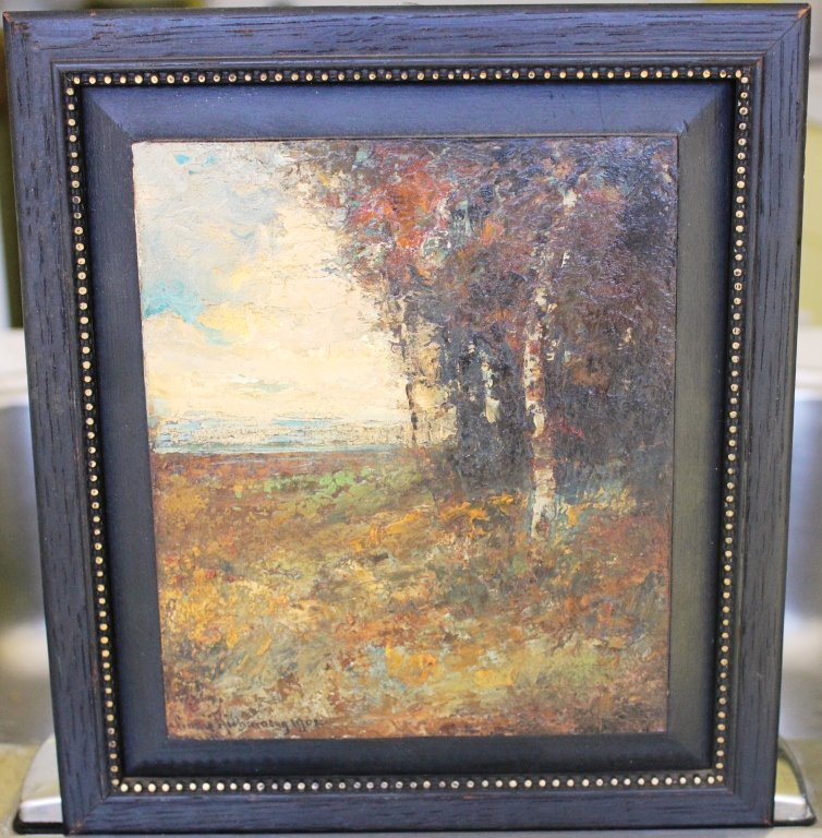 17: FRAMED OIL PAINTING ON BOARD BY LOUIS RICHARDSON,