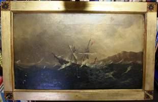 FRAMED OIL ON CANVAS BY ROBERT S. AUSTIN