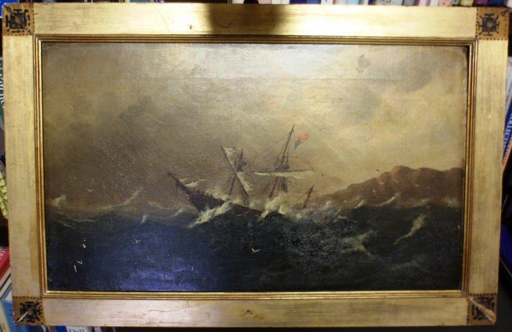 23: FRAMED OIL ON CANVAS BY ROBERT S. AUSTIN