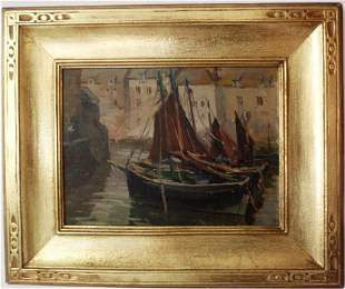 FRAMED OIL ON ARTIST BOARD BY MABEL MAY WOODWARD