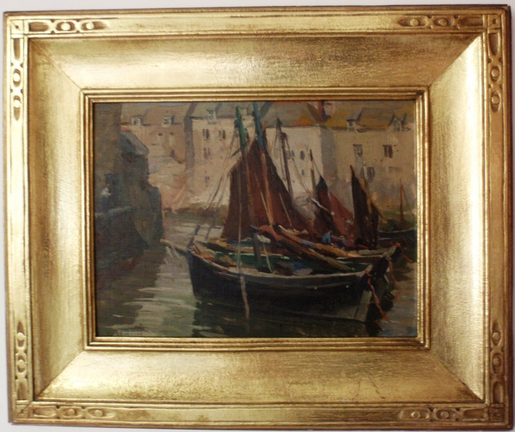 24: FRAMED OIL ON ARTIST BOARD BY MABEL MAY WOODWARD