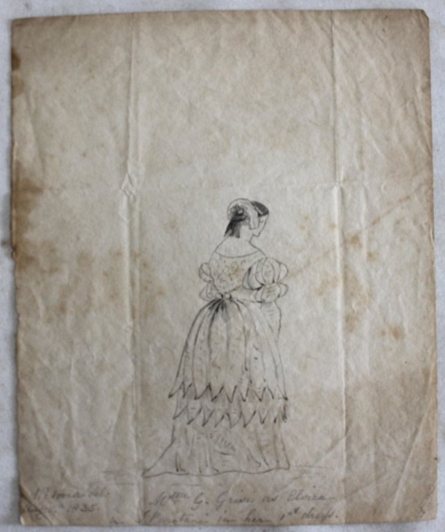 PENCIL DRAWING DATED 1835 DONE BY QUEEN VICTORIA,