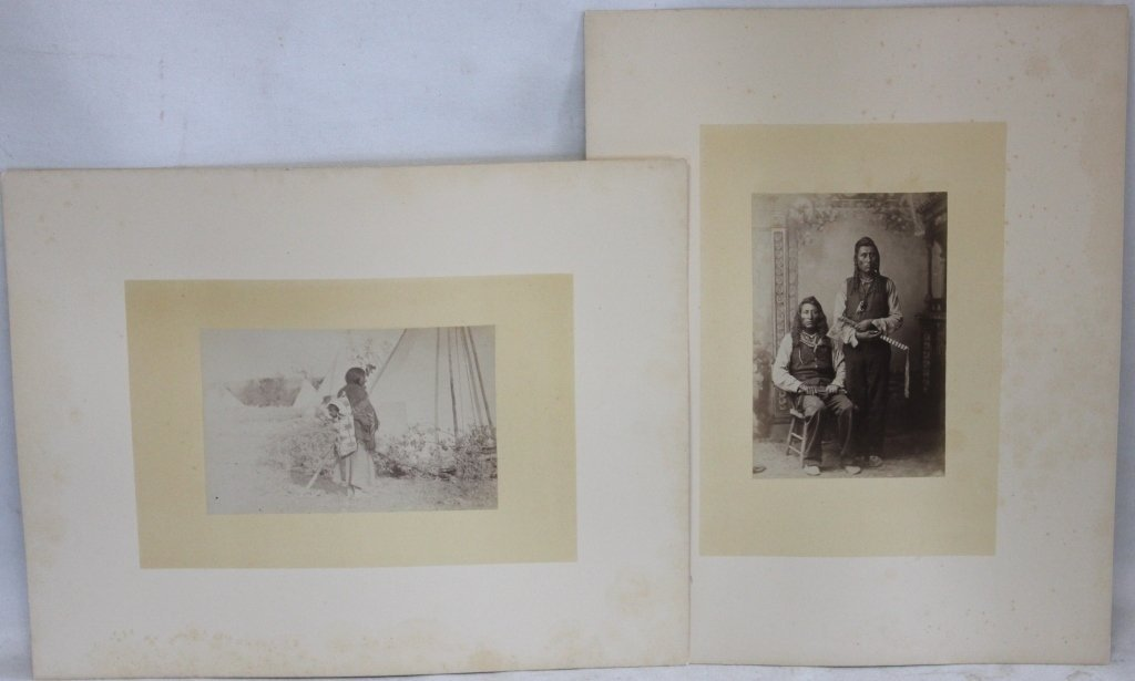 LATE 19TH C MOUNTED PHOTOS SHOWING CROW CHIEF
