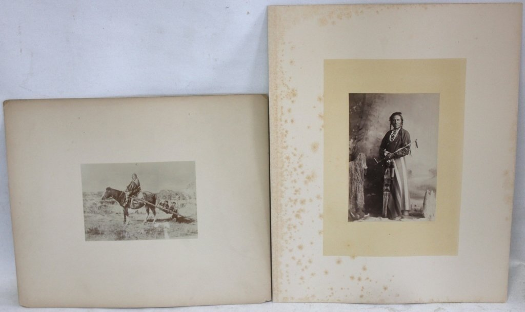 TWO LATE 19TH C MOUNTED PHOTOS, ONE SHOWING