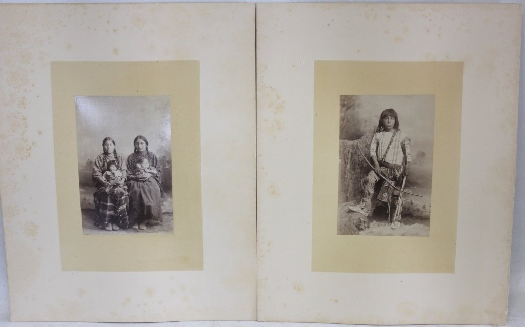 TWO LATE 19TH C MOUNTED PHOTOS
