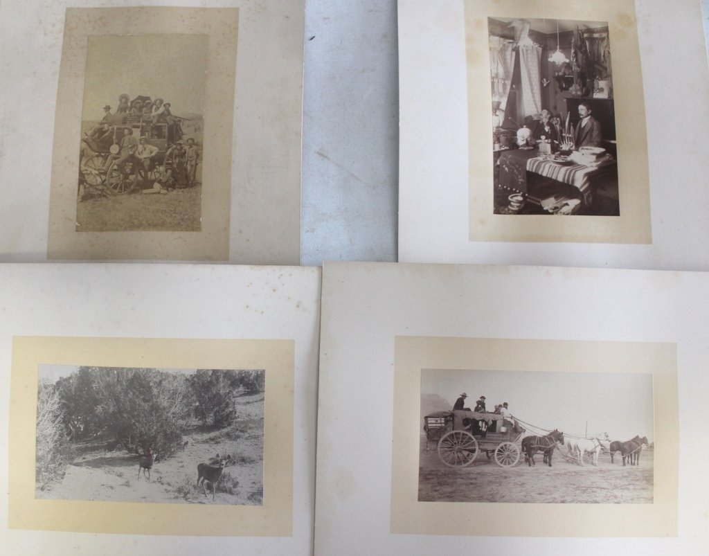 FOUR LATE 19TH C MOUNTED PHOTOS