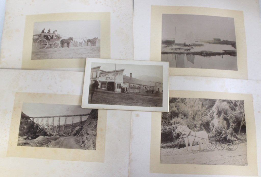 FIVE LATE 19TH C MOUNTED PHOTOS, POSSIBLY MONTANA,