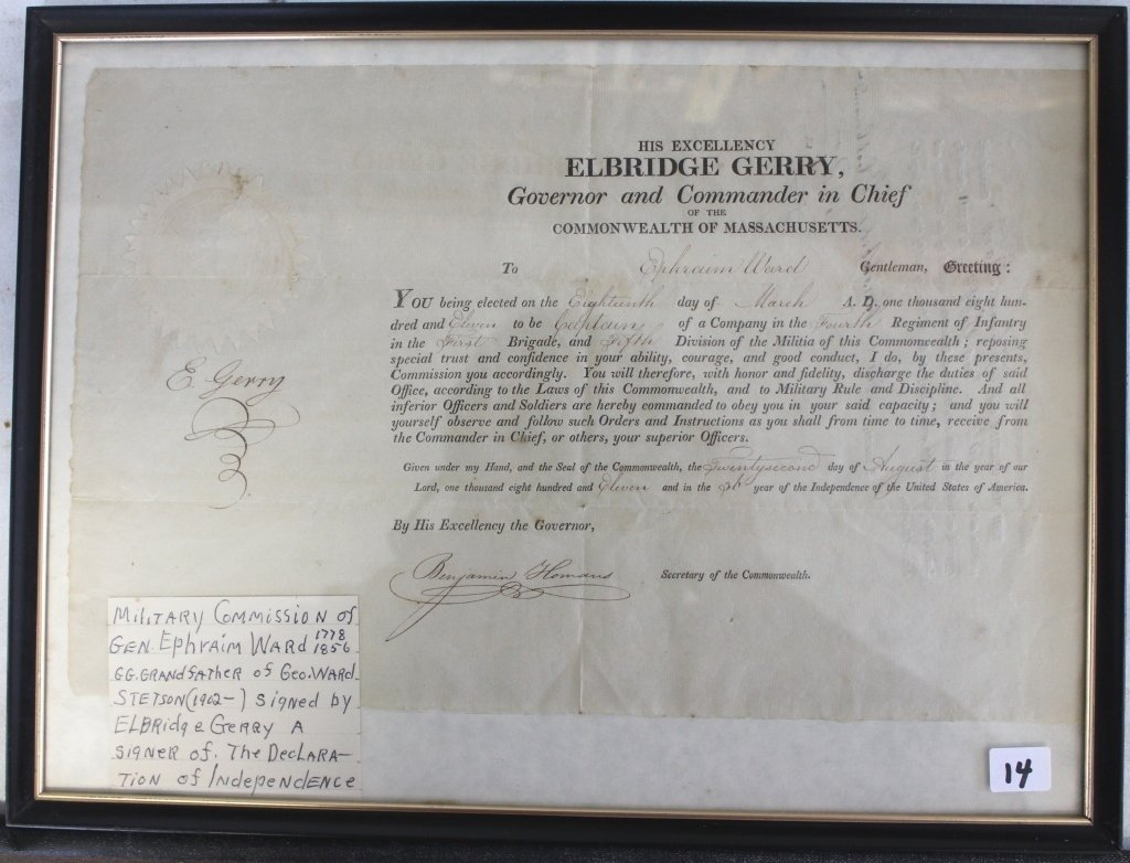 SIGNED COMMISSION DOCUMENT DATED 1811