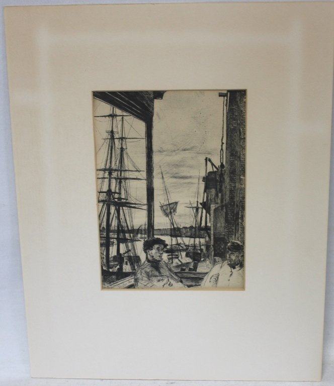 ETCHING BY JAMES ABBOT MC NEIL WHISTLER