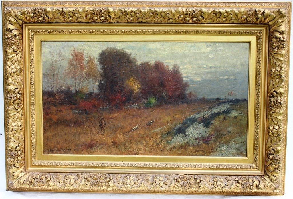 IMPORTANT FRAMED OIL ON CANVAS BY FAIRHAVEN
