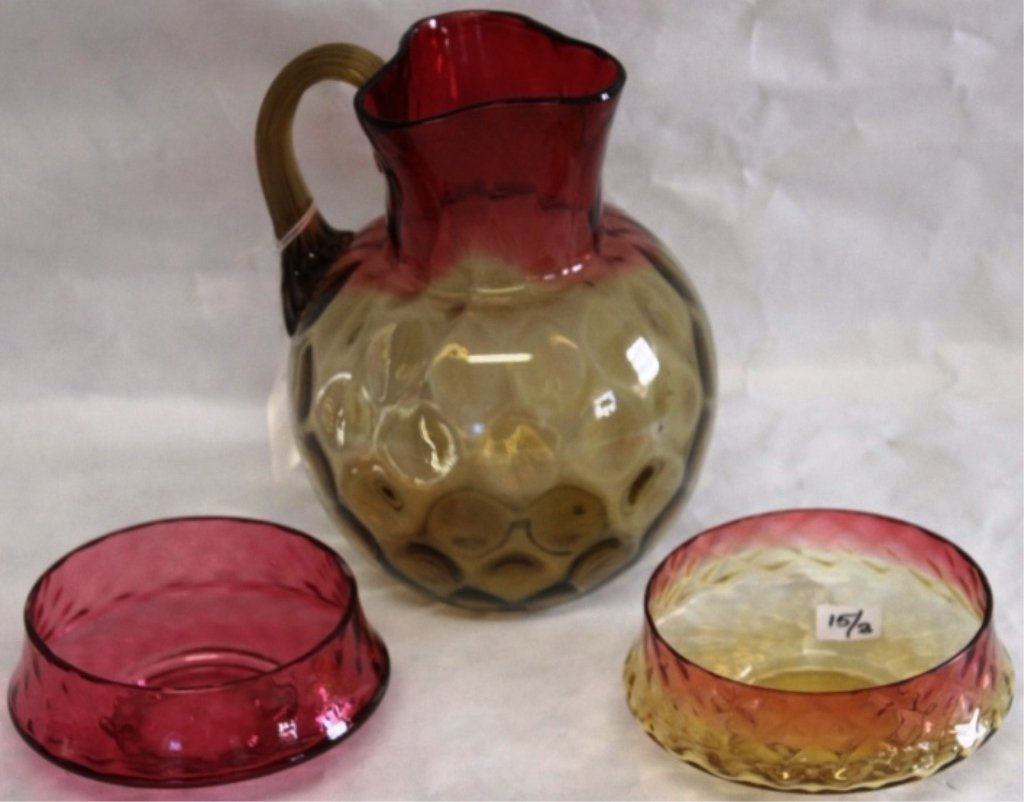 3 PIECE LOT CONSISTING OF TWO PIECES OF AMBERINA