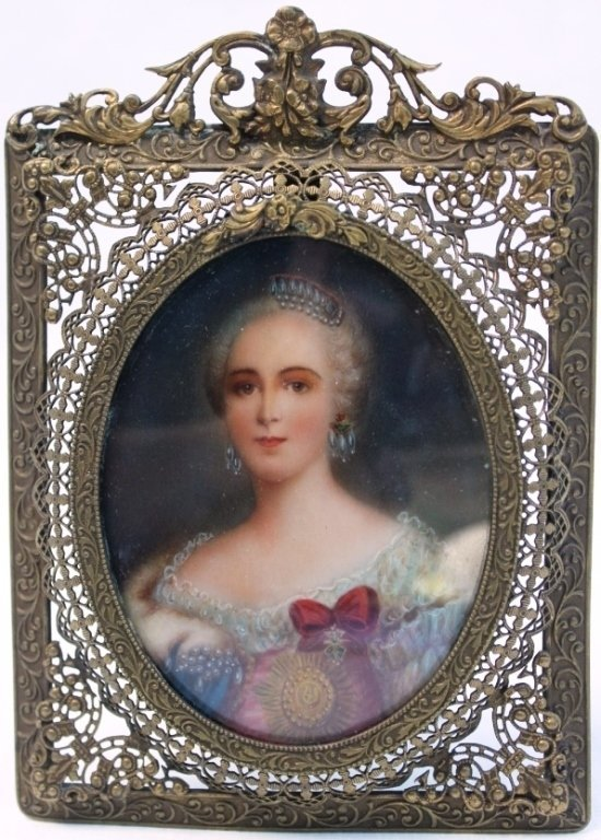 MINIATURE 19TH C PORTRAIT ON IVORY, YOUNG WOMAN