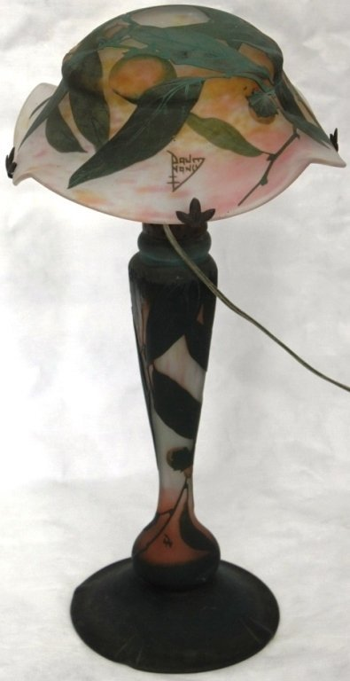IMPORTANT DAUM NANCY CAMEO GLASS TABLE LAMP