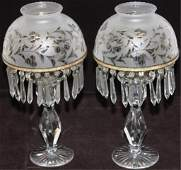PAIR OF RARE PAIRPOINT CANDLESTICK LAMPS EARLY