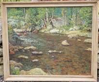 FRAMED OIL ON CANVAS BY JOHN JOSEPH ENNEKING
