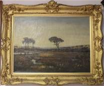 FRAMED OIL ON CANVAS BY SOUTH DARTMOUTH ARTIST