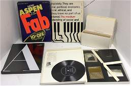 ASPEN:  THE MAGAZINE IN A BOX; VOLUME I NOS. 1, 2,