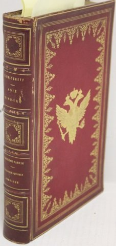 LEATHER BOUND BOOK IN FRENCH TITLED ASIE MINEURE