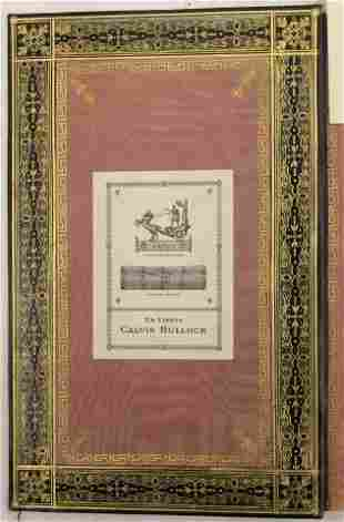 KHNTA, 1820 LEATHER BOUND BOOK IN RUSSIAN,