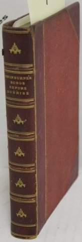 LEATHER BOUND BOOK TITLED SONGS BEFORE SUNRISE,