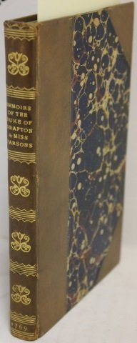LEATHER BOOK MEMOIRS OF THE DUKE OF GRAFTON