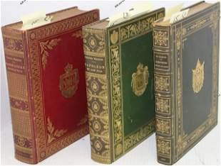 3 EXCEPTIONAL BOUND LEATHER BOOKS, QUARTRO.