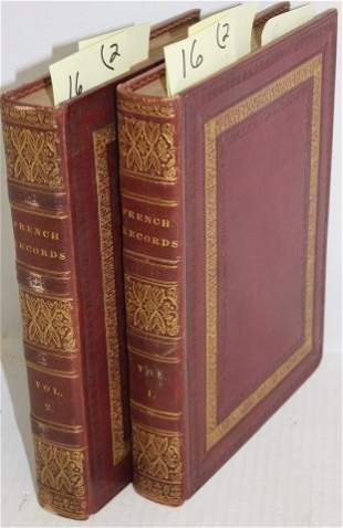 2 VOLS TITLED RECORDS OF THE FRENCH NATION AND OF