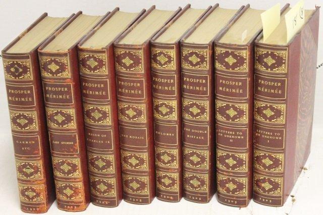 SET OF 8 BOOKS THE WRITINGS  OF PROSPER MERIMEE,