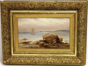 C. H. GIFFORD, OIL PAINTING OF CLARKS COVE,