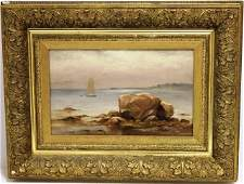 C H GIFFORD OIL PAINTING OF CLARKS COVE