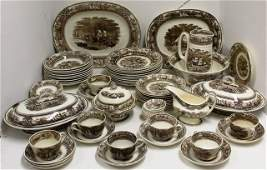 69 PIECES OF AMERICAN MARINE DINNERWARE, C. L. A.