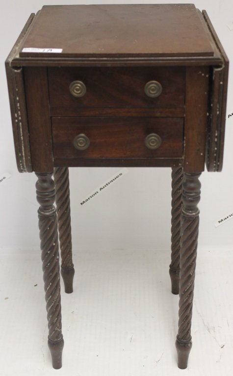 EARLY 20TH CENTURY MINIATURE BENCH MADE DROP