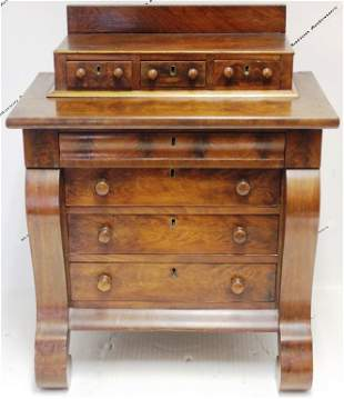 EARLY 19TH CENTURY MINIATURE EMPIRE CHEST OF