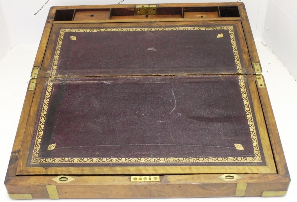 EARLY 19TH CENTURY CAMPHOR WOOD CAPTAINS DESK,
