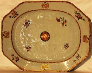 18TH CENTURY CHINESE OCTAGONAL PLATTER WITH RARE
