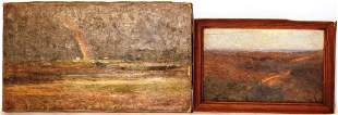 2 OIL PAINTINGS BY R. SWAIN GIFFORD. ONE IS ON