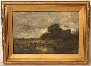 FRAMED OIL PAINTING ON CANVAS BY C. E. L. GREEN