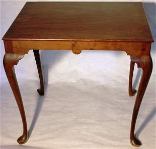 18TH C MAHOGANY QUEEN ANNE TEA TABLE, PROBABLY