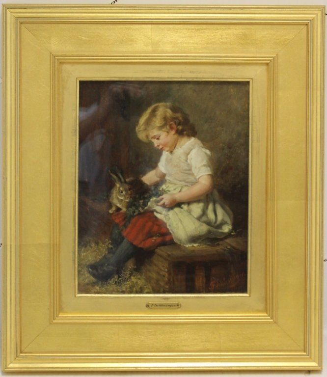FRAMED OIL PAINTING ON CANVAS, UNDER GLASS,