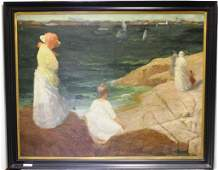 FRAMED OIL PAINTING ON CANVAS BY CLARENCE BRALEY