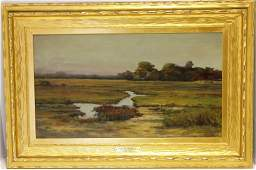 FRAMED OIL PAINTING ON CANVAS BY LOUIS RICHARDSON